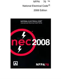 NFPA 70-2008 National Electrical Code